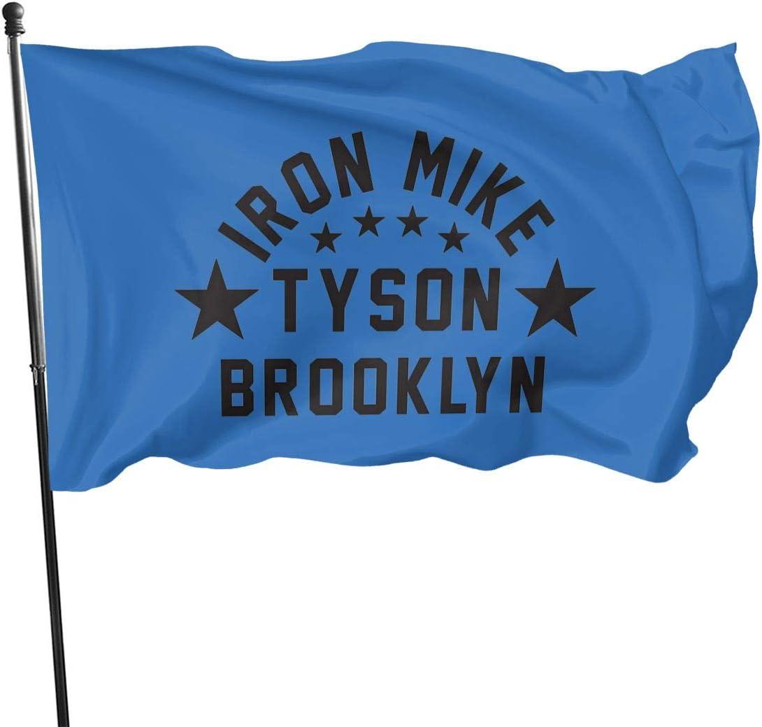 N/ Banderas de poliéster con diseño de Mike Tyson Brooklyn, 3 ...