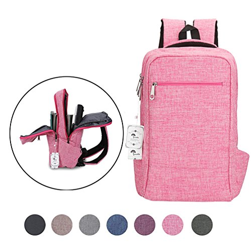 Laptop Backpack,Winblo 15 15.6 Inch College Backpacks Lightweight Travel Daypack - Pink