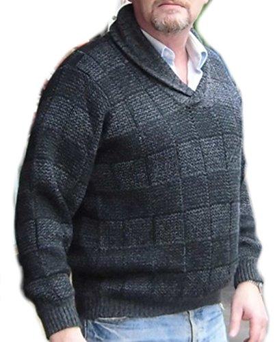 Alpakaandmore Men Sweater, Peruvian Alpaca Wool Pullover Green (Large) by Alpakaandmore (Image #2)