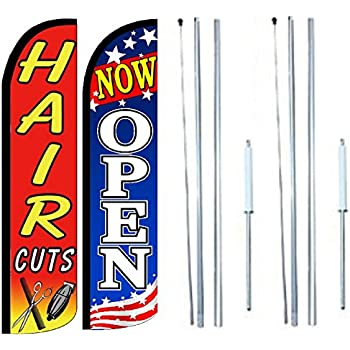 Nails King Size Polyester Swooper Flag Banner  pk of 3