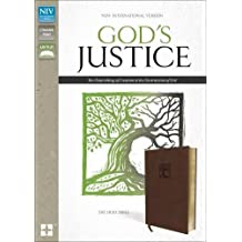 NIV, God's Justice Bible, Leathersoft, Brown: The Flourishing of Creation and the Destruction of Evil