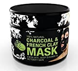 Activated Charcoal & Clay Mud Mask - Face Mask Tightens Skin for Clear Complexion - Spa Quality Facial Toner, Pore Minimizer, Blackhead Remover, Oily Skin, Acne Treatment, 8 fl.oz. by LeParfait