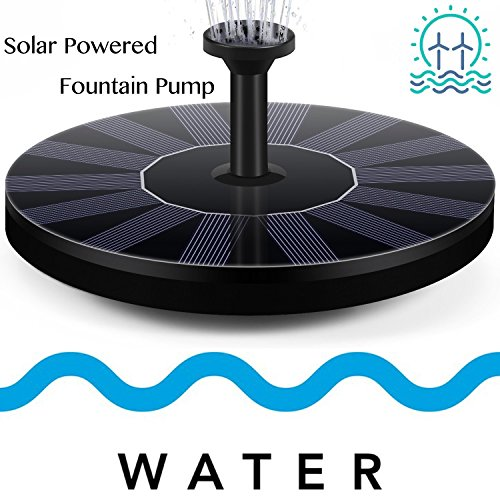 Solar Fountain Pump,Free Standing Solar Powered Bird Bath Fountain Water Pump,1.4W Solar Outdoor Floating Fountain Pump Kit,for Garden, Pool, Pond, Patio Ideal Decoration