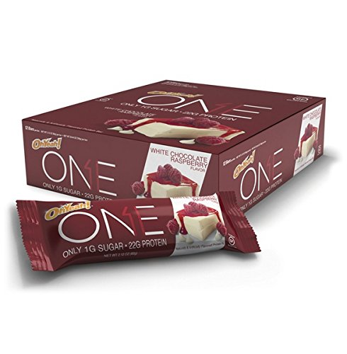 ONE Protein Bar, White Chocolate Raspberry, 22g Protein, 1g Sugar, 12-Pack ()