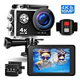 Prymax 4K Action Camera, 16MP WiFi Ultra HD Anti-Shake 30M Underwater Waterproof Camera Sports Camcorder with 170° Degree Wide Angle Lens and 2.0 Inch LCD Screen and high-tech Sensor