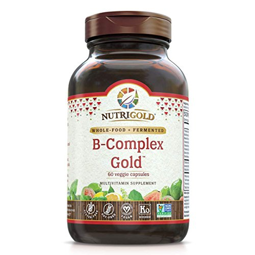 Nutrigold Vitamin B-Complex Gold (Organic, Plant-based, Whole-food) 60 Organic Capsules	 by Nutrigold