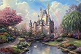 Thomas Kinkade Spectacular 16x20 Cinderella Castle Disneyland Premium Giclee Print Walt Disney Collection Centerpiece of the Magic Kingdom