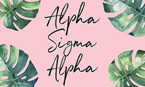 (Alpha Sigma Alpha - Sorority Letter Flag (Tropical)