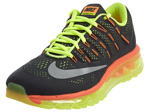 NIKE Air Max 2016 GS Youth Run Running Sneakers New Black Volt Total Orange - 7