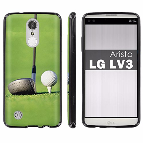 Drive Guard Premium Gel (LG [Aristo] [LV3] [MS210] Soft Mold [Mobiflare] [Black] Thin Gel Protect Cover [Screen Protector] INCLUDED - [Golf Drive] for LG [Aristo] [LV3])