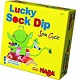 HABA Lucky Sock Dip - Spin cycle Bring Along Matching Game (Made in Germany)