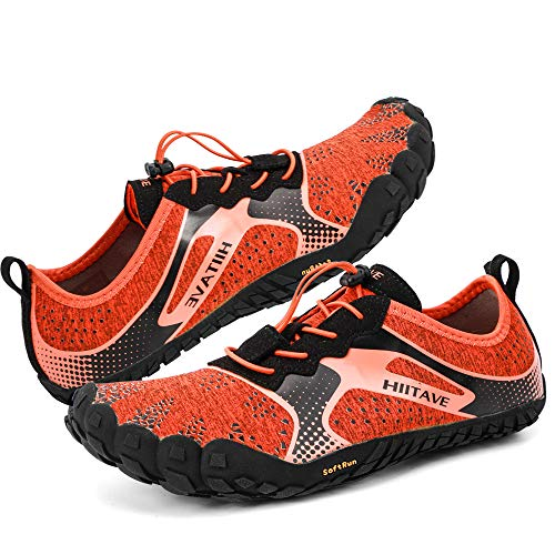 - hiitave Men Minimalist Barefoot Running Shoes Lightweight Gym Athletic Walking Shoes for Outdoor Sports Cross Trainer Orange/Black US 10.5 Men