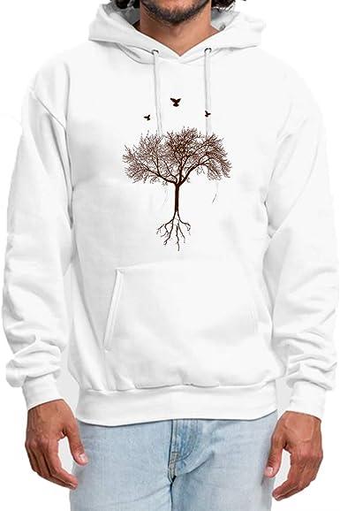 XQS Mens Hoodies Pullover Casual Solid Sweatshirts