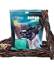 "Super Can 6"" & 12"" Beef Braided Gullet Sticks for Dogs 