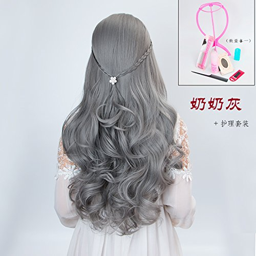 Amazon Com Large Fat Sister Long Hair Round Face Big Face