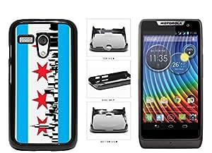 Chicago Flag Skyline Plastic Phone Case Back Cover Moto G
