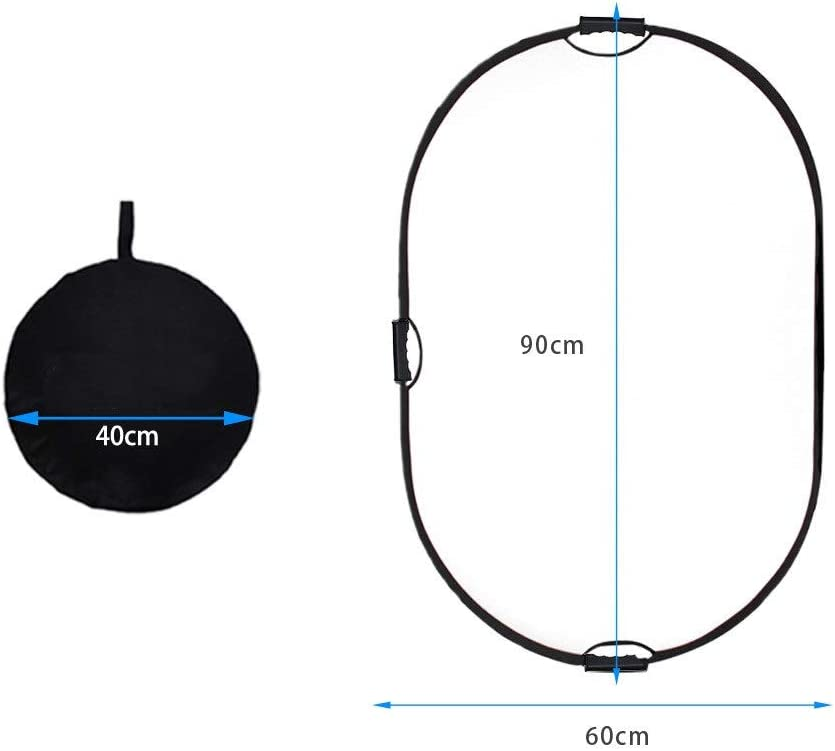KMCMYBANG Photographic Reflector 3 Handles 5-in-1 Collapsible Multi-Disc Light Reflector Soft Diffuser Panel Reflector for Photography Photo Studio Lighting with 60x90cm Photographic Light Board