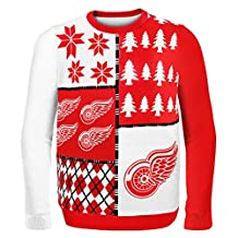 Detroit Red Wings Busy Block Ugly Sweater