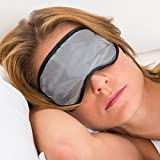 Adjustable Mulberry Silk Sleep Mask from Lemon Hero. Premium Natural Mulberry Silk Eye Shade Designed for Lightweight Comfort. Travel, Meditation, Relaxing at Home, Insomnia, Sleeping During the Day