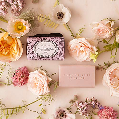Gianna Rose Atelier French-Milled Oatmeal Soap Bar With Lavender And Bergamot Scent - All Natural Plant-Based Bath Soap 6oz