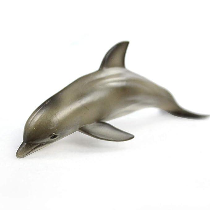 Mzl Al mar de los niños delfín imitación corazón Real Zoo decoración casera Modelo Animal Marino Mundial (Dos Piezas): Amazon.es: Jardín