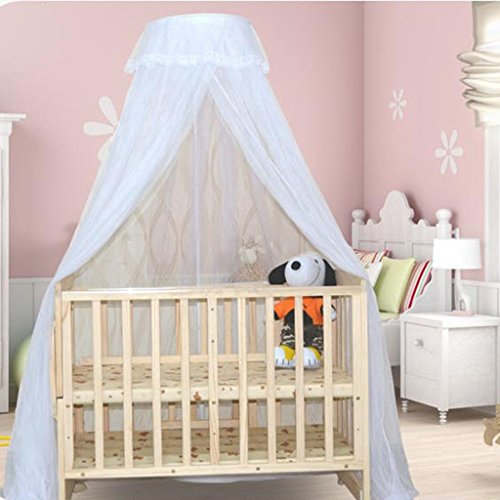 CHANG XU DONG US Baby Mosquito Net Dome Bracket Bed Canopy Suitable for Any Size Cribs Quick Installation Ultra Fine Mesh Protection No Chemicals
