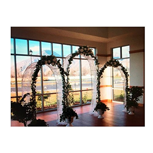 Adorox 7.5 Ft White Metal Arch Wedding Garden Bridal Party Decoration Arbor (3)