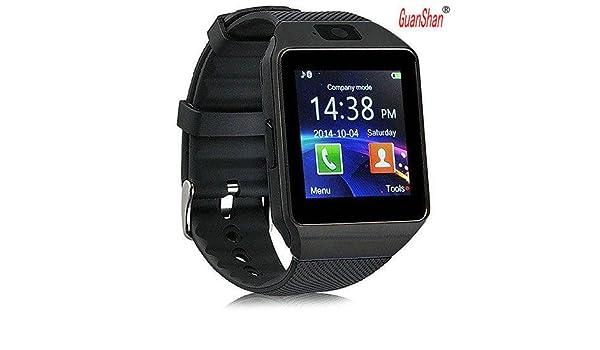 Amazon.com: GuanShan Bluetooth Smart Watch DZ09 Relojes Smartwatch Relogios TF SIM Camera for IOS iPhone Samsung Huawei Xiaomi Android Phone (Black): Cell ...