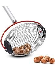 Nut Gatherer, Medium Nut Gatherer, Adjustable Lightweight Rolling Nut Wizard Picker Collector Garden Rolling Nut Harvester, Picks Up Balls, Pecans, Crab Apples, Acorns, Hickory Nuts