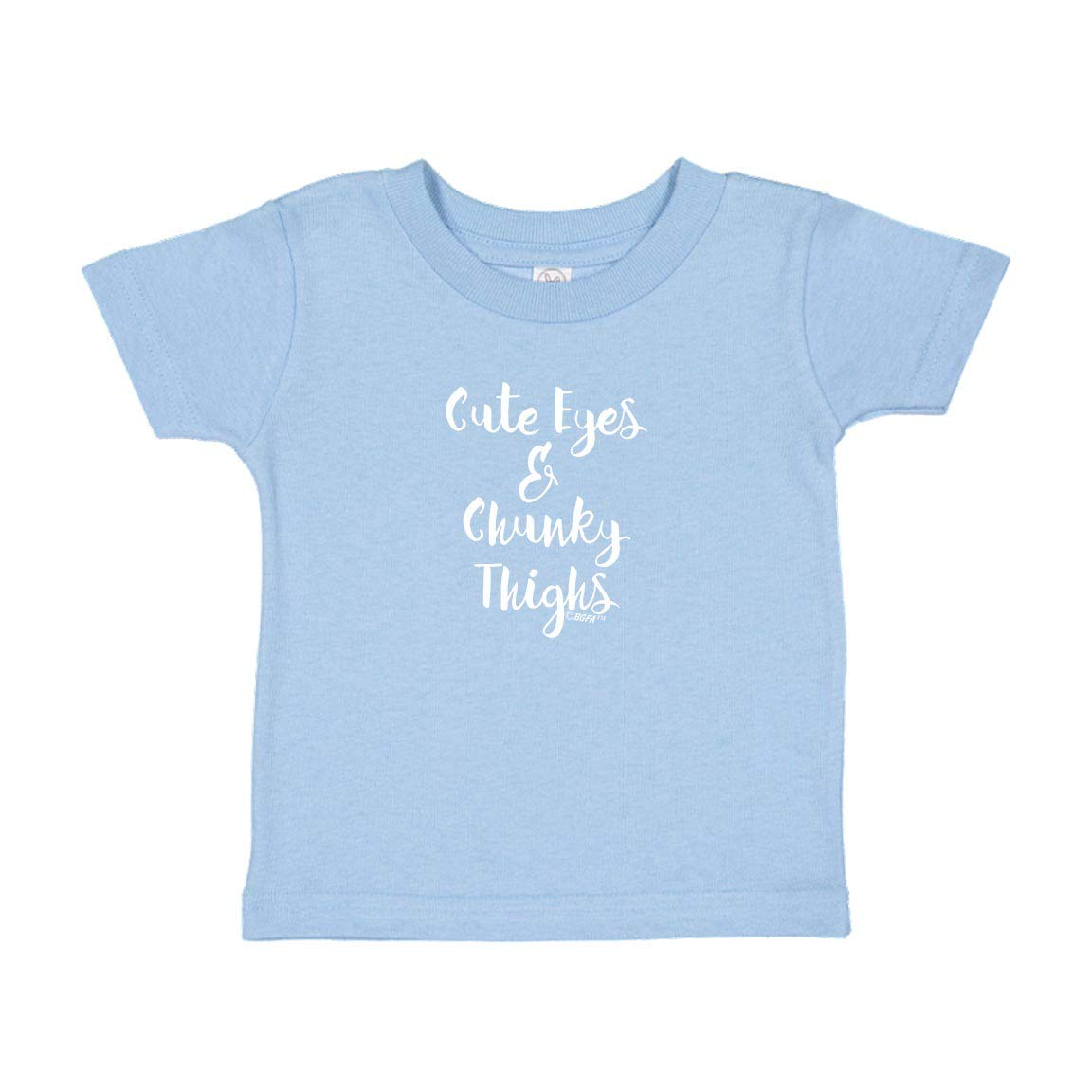 Baby Gifts For All Funny Quote Gift Cute Eyes Chunky Thighs Toddler Juvy T-Shirt