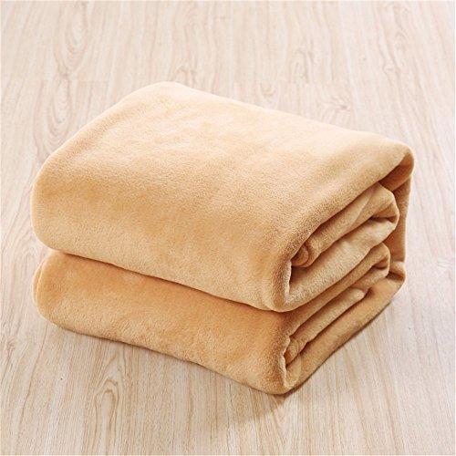 Weiliru Throw Blanket Super Soft Reversible Luxurious Plush Blanket 100X140cm Blue,Office,Sofa]()