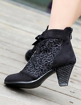 XZZ/ Zapatos de mujer - Tacón Robusto - Punta Redonda - Botas - Vestido -