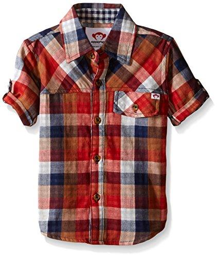 Appaman Boys' Big Harvey Shirt, Multi Plaid, 10 (Appaman Monkey)
