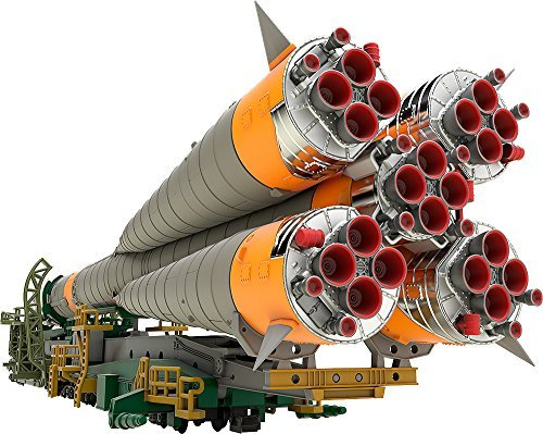 Japan Import 1/150 plastic model Soyuz rocket + transport train 1/150 scale PS made of prefabricated plastic model