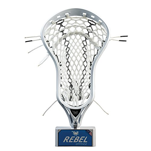 East Coast Dyes - Rebel Offense Strung Lacrosse Head - White - Elite Pocket - Hero 2.0 - Black Striker (Best Strung Lacrosse Heads)