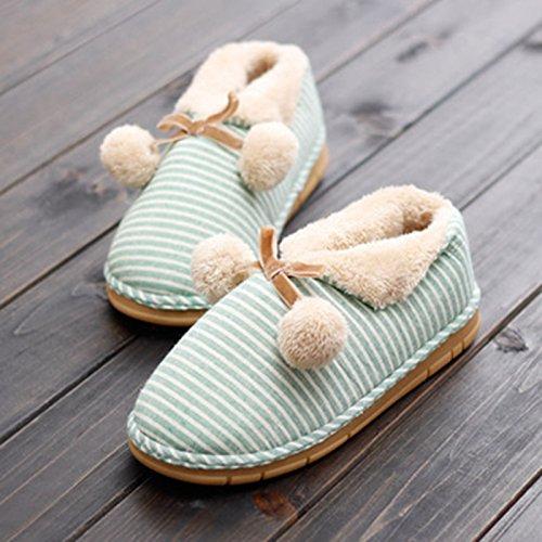 Y-hui les hommes et les femmes Bottes de coton, lautomne et lhiver au chaud, intérieur et extérieur coton fond épais chaussons, lassignation à résidence dhiver de chaussures,44-45 (digne des 43-44