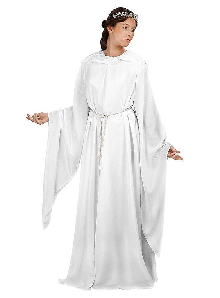 Weiß L XL Unbekannt Herr der Ringe Kostüm  Elfenmantel, weiße Robe, Gewand mit Flügelärmel, Kapuze