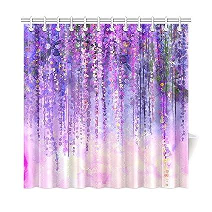 Amazon INTERESTPRINT Wisteria Flowers Tree Home Decor Purple