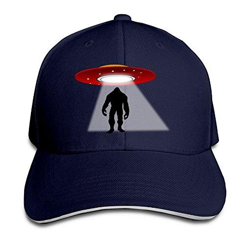 Flex Fit Sandwich Bill Cap (Ioekal UFO Bigfood Baseball Caps Unisex Cotton Adjustable For Womens Casual Stretch Sandwich Hats)