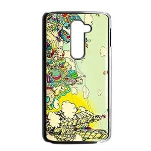 Creative Graffiti Town Custom Protective Hard Phone Cae For LG G2