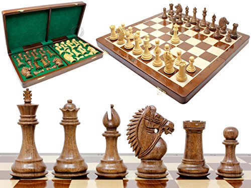 House of Chess - Rio Staunton Biggie Knight Acacia Wood 4