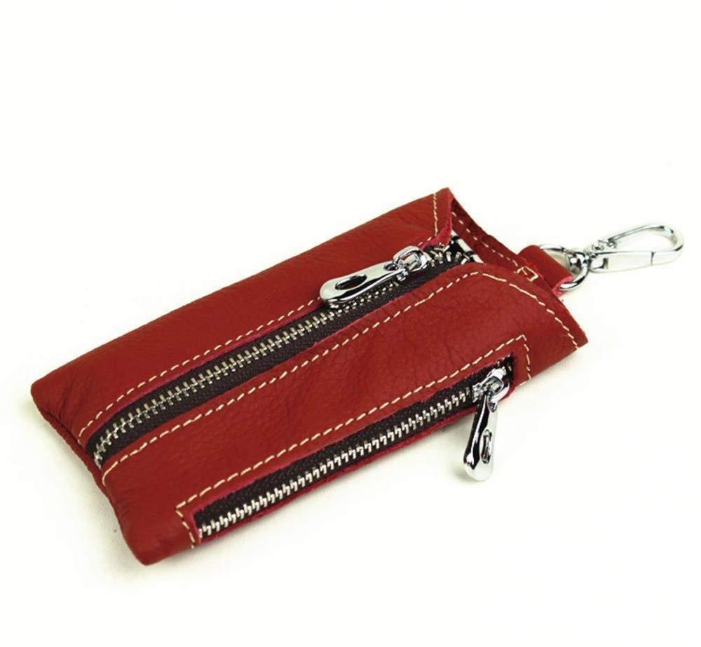 女の子用 財布 レディース 財布 キーバッグ ジッパー 多機能 レトロ レザー チェンジ カーキーチェーン B07NTLP5TG