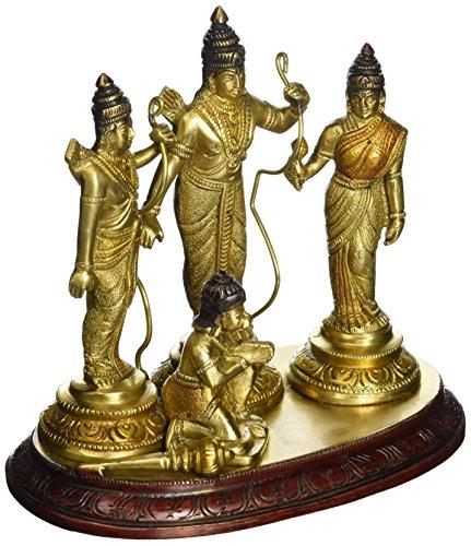 Aone India Ram Sita Laxman Hanuman Statue Hindu God Figurine Metal Brass Sculpture Ram Darbar Statue + Cash Envelope (Pack Of - Site In India