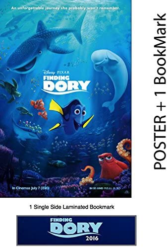 Amazon Com Wmg Finding Dory 2016 24 X 36 Poster Glossy Finish Thick 8 Mil Plus 1 Laminated Bookmark Posters Prints