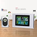 HOIHO LCD electronic indoor/outdoor color wireless thermometer hygrometer weather forecast clock
