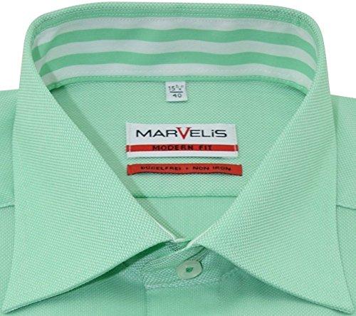 Marvelishemd modernfit hellgrünes halbarm New Kent mit Tasche Kollektion Size 42