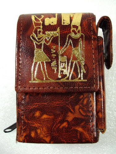 Egyptian Cigarette Case Cover Genuine Hand made Leather Handcrafted Ethnic (Egyptian Cigarettes)
