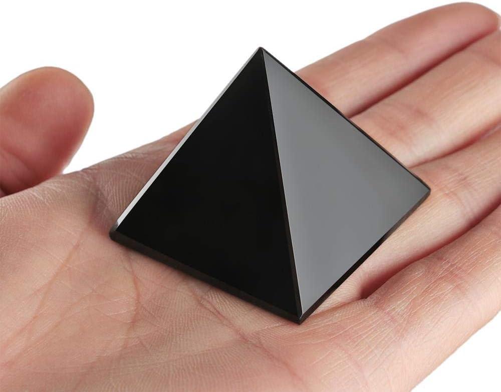Kapu Nueva Pirámide De Obsidiana, Superficie Pulida Natural, Cristal Negro, Piedra Energética Reiki, Espécimen Mineral, Pirámide, Adornos, Decoración De Escritorio