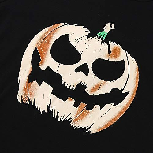 Clearance Halloween ! JSPOYOU Halloween Women High Low Hem Hooded Pumpkin Print Cocktail Party Swing Dress by JSPOYOU (Image #4)
