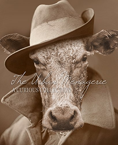 [Anthropomorphic Portrait, Cow in Hat Art Print, Multiple Sizes Available, Unframed] (Inanimate Object Costume)